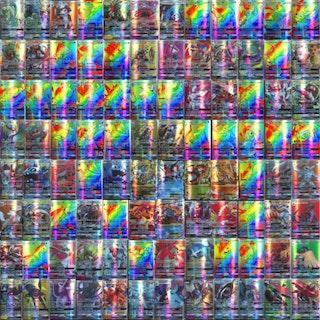 100 st Pokémon Kort (59 EX + 20 GX + 20 Mega + 1  Energy)