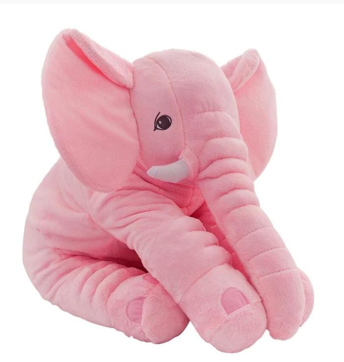 Stor Elefant Kramdjur Gosedjur XL Plush Elephant Doll Sova Kudde  Stuffed Baby - 60 cm