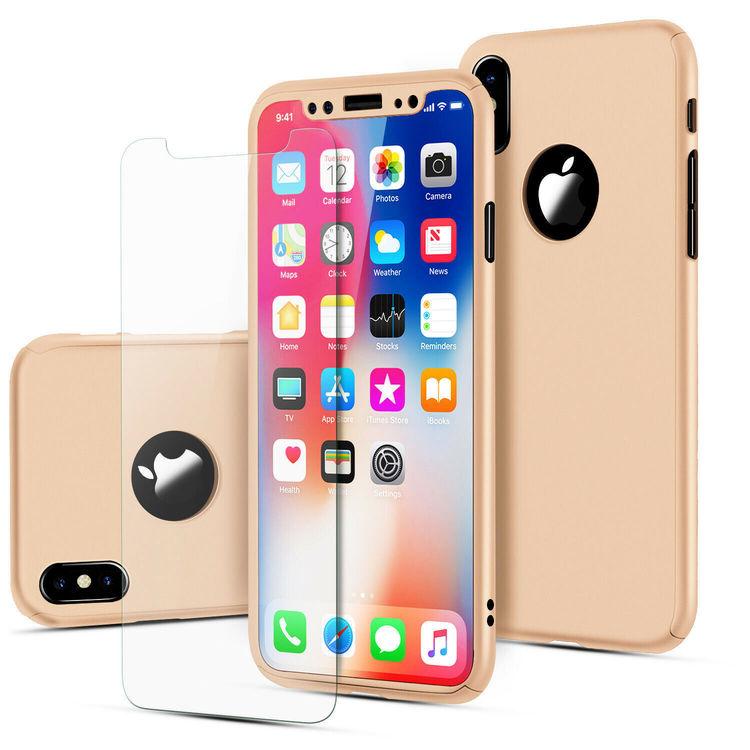 360 Skal till iPhone 8 Stötsäkert skydd + glas