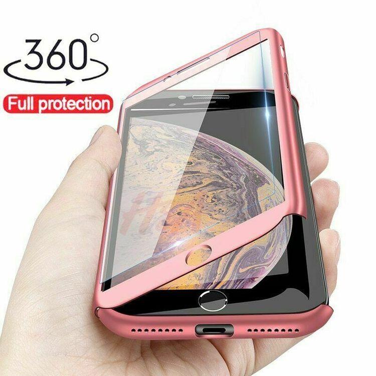 360 Skal till iPhone XS Max Stötsäkert skydd + glas