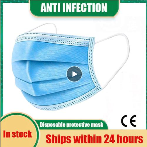 40 st Engångsskyddsmask  KN95-mask 3 lager Anti-bakteriell ansiktsskydd FFP2 FFP3 Anti Dust Mask
