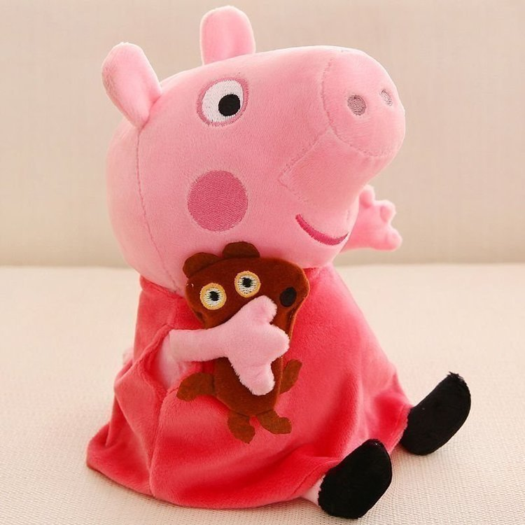 Greta Gris Peppa Pig Gosedjur Familj Set Deluxe