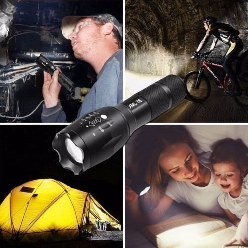 10000 Lumens XM-L T6 Zoombar Taktisk Militär Jakt LED-ficklampa Ficklampa