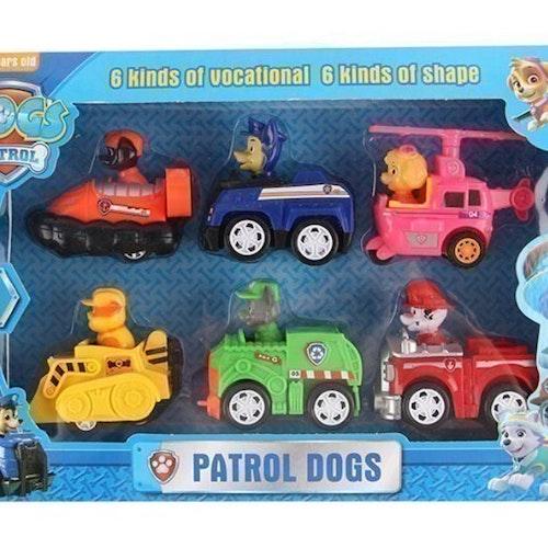 6 st Paw Patrol Deluxe Set Leksak Figurer