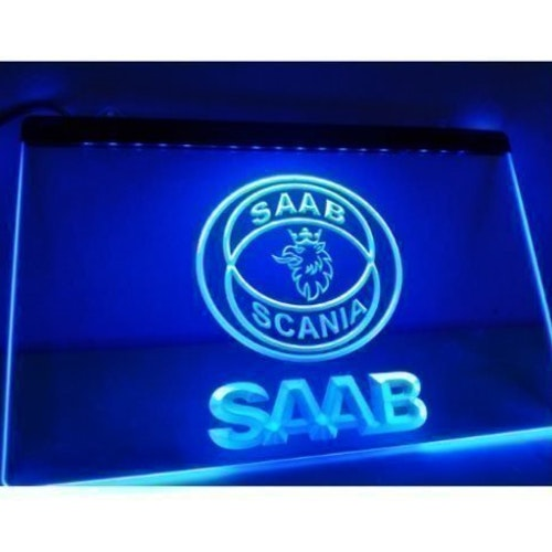 SAAB LED NEON LJUS SKYLT LIGHT SIGN NR