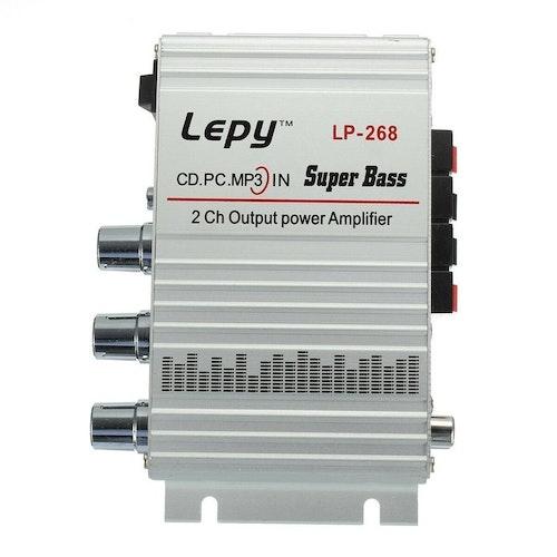 Lepai Lepy LP-268 2 CH Mini Hi-Fi Stereo Amplifier Amp Radio Stereoförstärkare