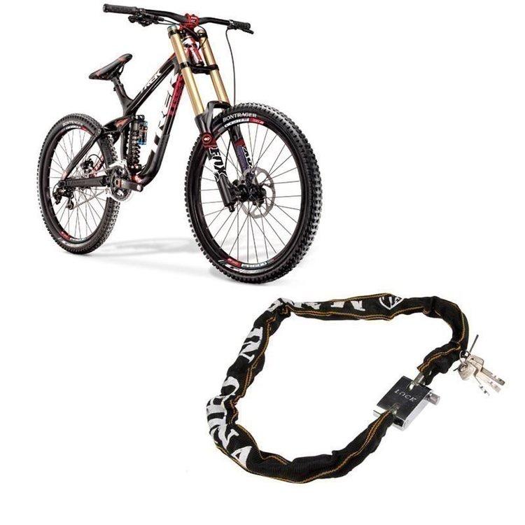 Heavy Duty Cykellås Moped Scooter Chain Pad Lock 3 Nycklar Hög Säkerhet