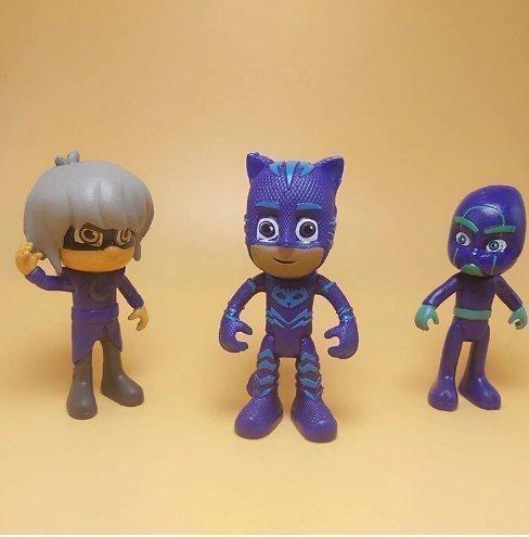 Pj Masks Pyjamashjältarna Figurer Leksaker Deluxe Catboy Owlette Gekko Romeo