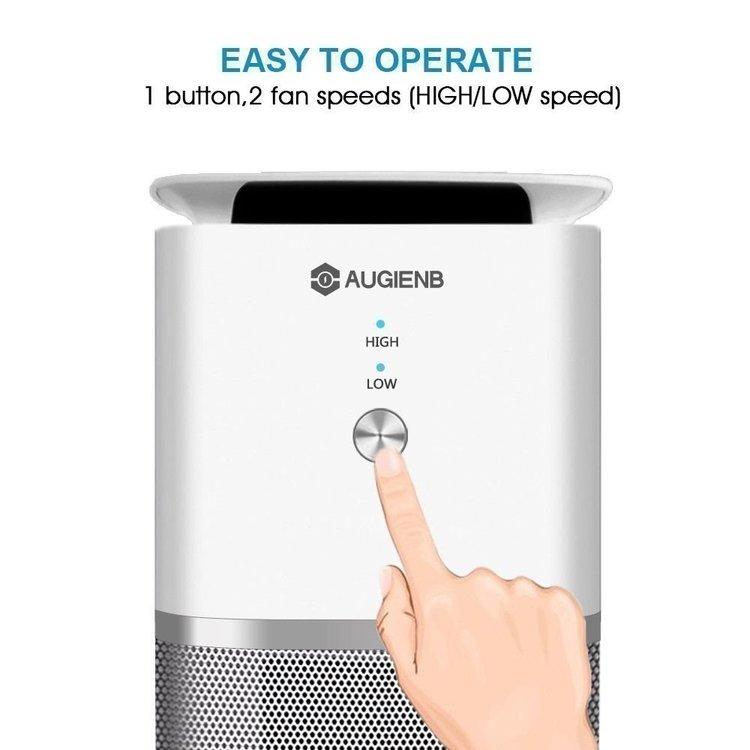 AUGIENB 4 i 1 Jonisator Air Purifier Luftrenare HEPA Aktiv Kolfilter