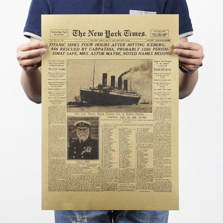 Titanic New York Times bild poster vintage affisch wallpaper tapet
