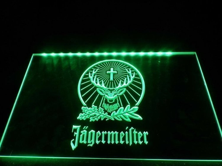 JÄGERMEISTER NEON LJUS PUB LIGHT SKYLT SIGN NR