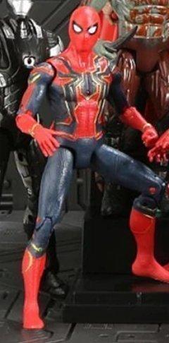 6 st Marvel Action Figurer Spiderman Iron Man Captain America Hulk mm  Deluxe 2019