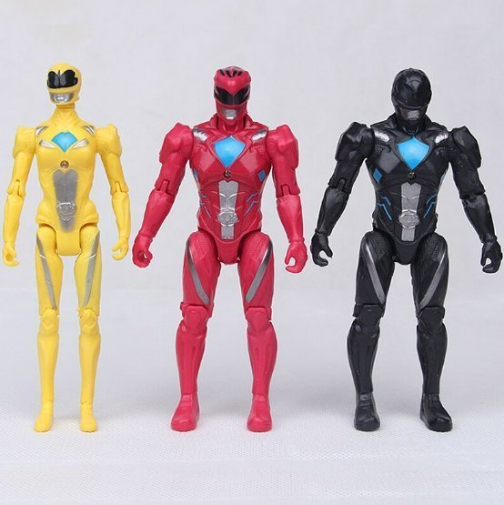 Power Rangers Leksak Deluxe Action Figurer LED
