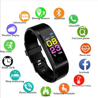 ZAPET Smartklocka Män Kvinnor Hjärtfrekvensmätare Blodtryck Fitness Tracker Smartwatch Sportklocka för ios android + BOX 2020