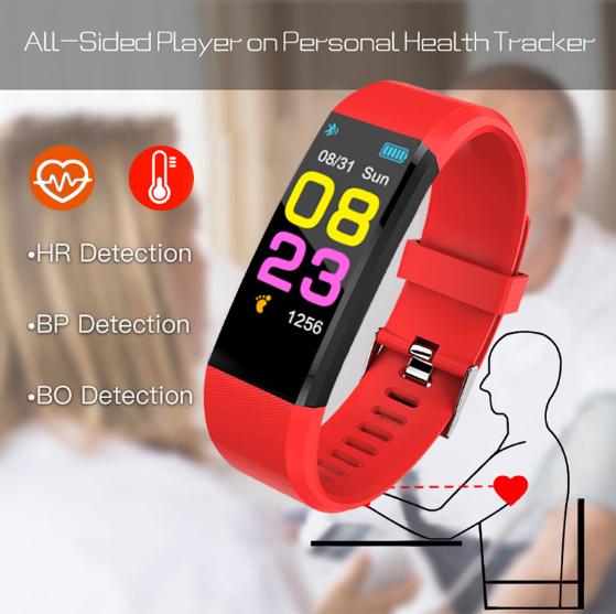 ZAPET Smartwatch Män Kvinnor Hjärtfrekvensmätare Blodtryck Fitness Tracker Smartwatch Sportklocka för ios android + BOX 2020
