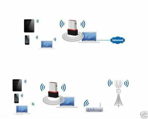 Trådlös 150Mbps USB Adapter WiFi 802.11n/g 150M Network Lan Kort