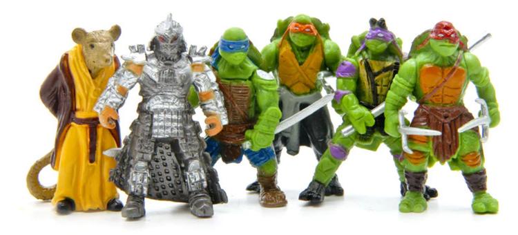 6 st TMNT Ninja Turtles figurer