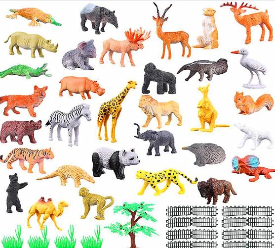52 st exotiska Zoo djur figurer
