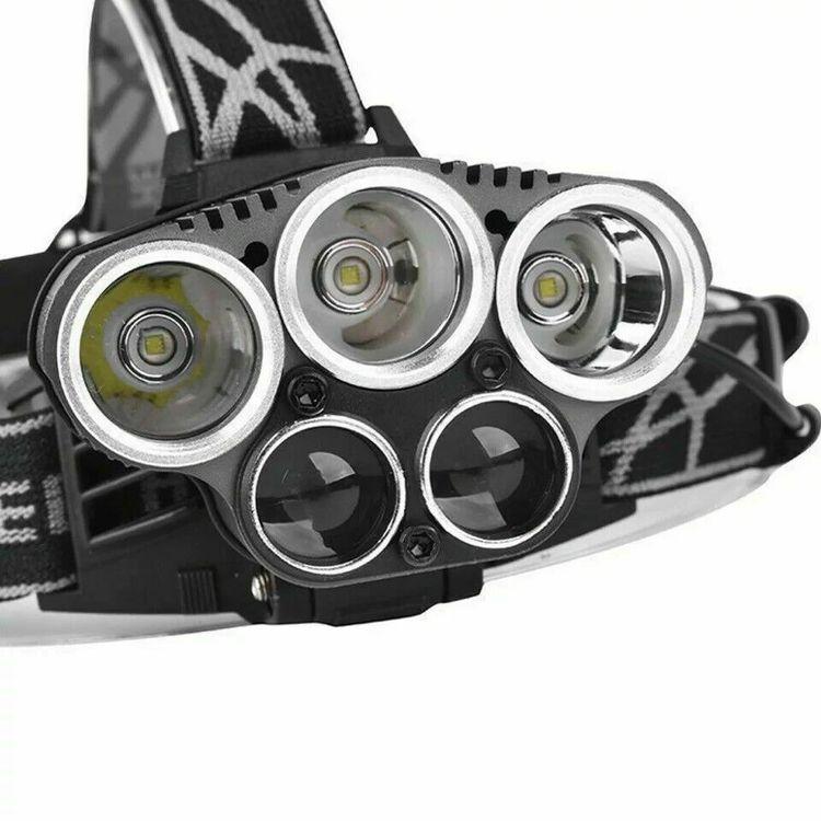 Superstark Pannlampa 5X T6 45000 Lumens Uppladdningsbar Utomhus Jakt