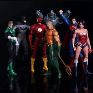 DC Comics Superhjältar Deluxe Set Batman Superman Flash Wonder Woman Actionfigurer