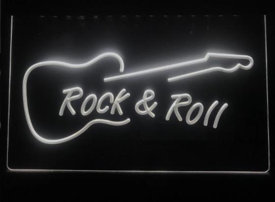 ROCK & ROLL NEON LJUS PUB SKYLT LIGHT SKYLT SIGN NR