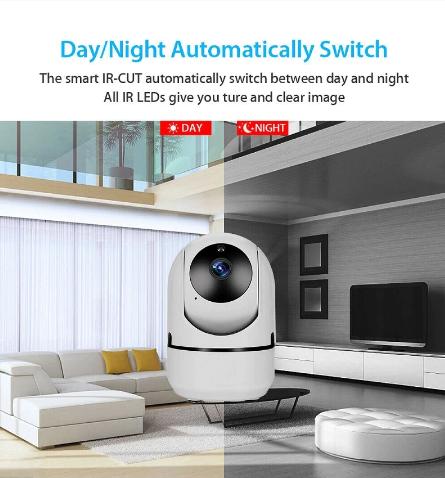 Smart Mini Baby Monitor IP-kamera Auto Tracking HD 1080p Inomhus Trådlös Wifi-kamera Säkerhetsövervakning CCTV-kamera