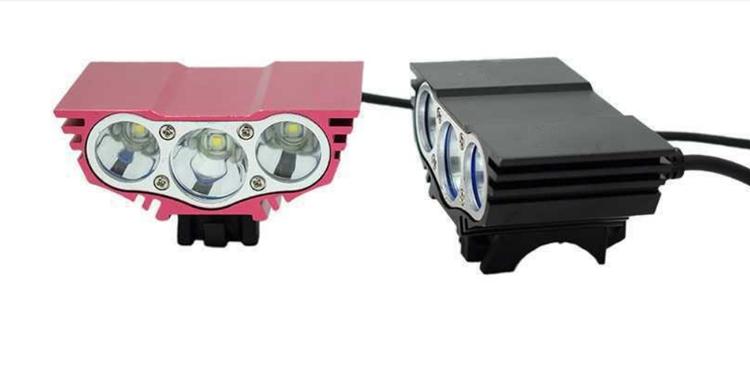 Superstark 5000 Lumens X3 Cykellampa 3 * T6 LED Cykel Framljus 4 Lägen Mountain Bike Strålkastare + 18650 Batteripaket