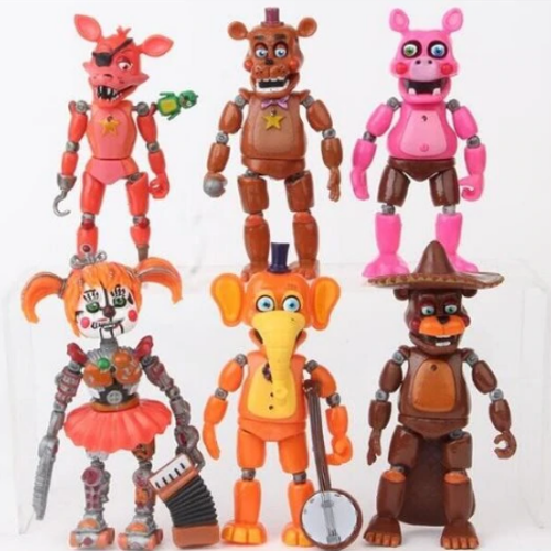 6-Pack Five Nights At Freddy's Figurer Deluxe Set