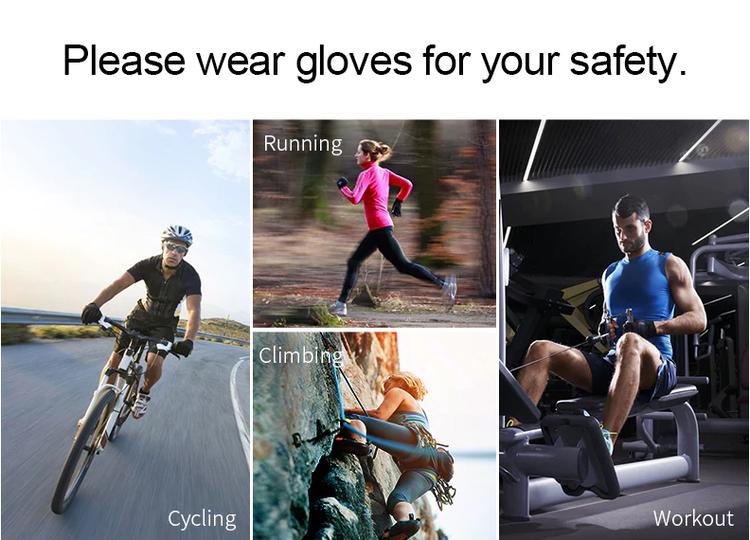INBIKE Stötsäker Cykelhandskar Träningshandskar Sporthandskar Män Kvinnor Cykel Gym Fitness Handskar Klättring MTB, Blå
