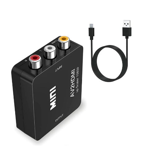 RCA / AV / CVBS till HDMI signalomvandlare CVBS AV to HDMI converter Up Scaler 1080p