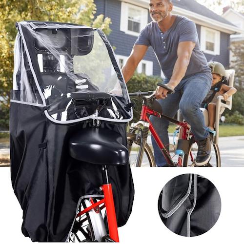 Cykelbarnstol Cykelsits Regnöverdrag Regnskydd UV Vindskydd