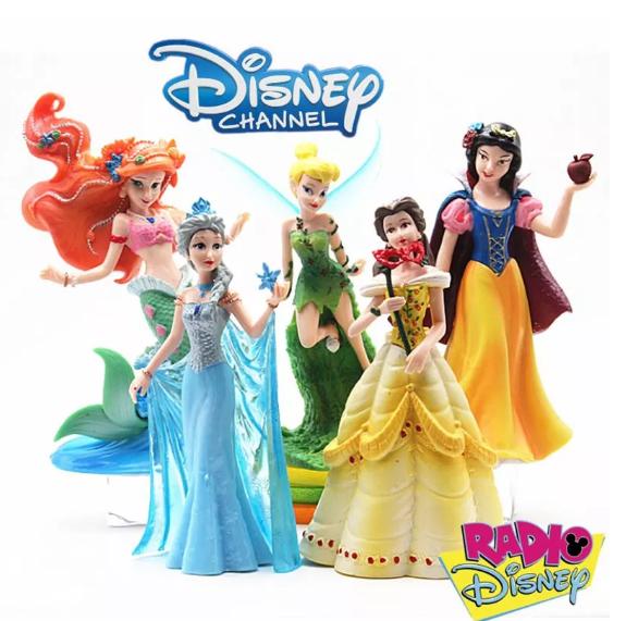 5-Pack Disney Princess Deluxe Figurer Frozen Elsa Anna Mermaid Cinderella Flower Fairy