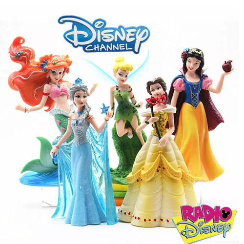 5-Pack Disney Princess Deluxe Figurer Frozen Elsa Anna Mermaid Cinderella Flower Fairy