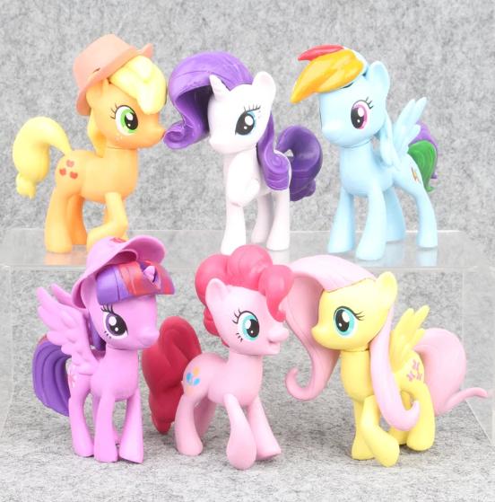 6-pack My Little Pony Deluxe Figurer Set