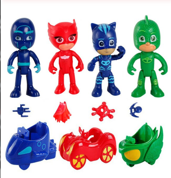 Pj Masks Pyjamashjältarna Deluxe Set + Bilar