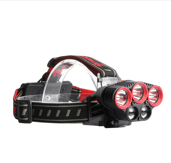 Kraftfull 50000 Lumens 5X XML T6 LED Pannlampa USB Headlight Flashlight Super Bright 4 Mode