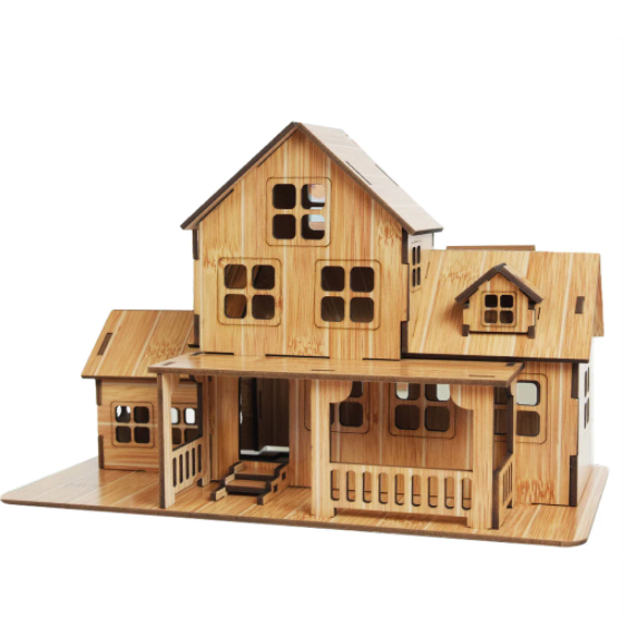 Bygg själva - 3D Trähus Pussel Puzzle Wooden DIY