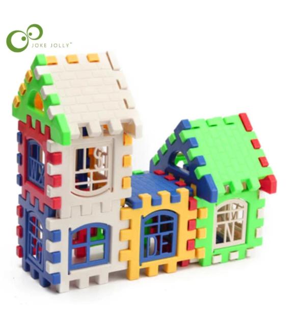 24 st Bygg Block Pussel Barn 3D Puzzle