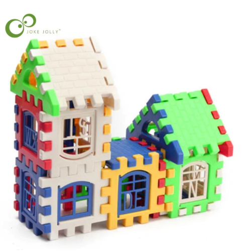 24 st Bygg Block Pussel Barn 3D Puzzle