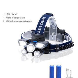 Pannlampa 20000LM 21 LED 9 Mode Arbetslampa Headlamp USB Uppladdningsbar Headlight Vattentät Head Torch for Outdoor Utomhus Cykling Hiking Friluft