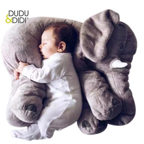 Stor Elefant Kramdjur Gosedjur L Plush Elephant Doll Sova Kudde  Stuffed Baby - 40 cm