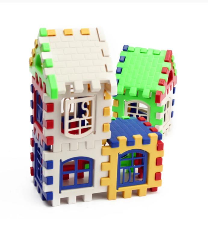 24st Byggstenar Byggleksaker Konstruktion Utvecklingsleksaker 3D Tegelstenar GYH