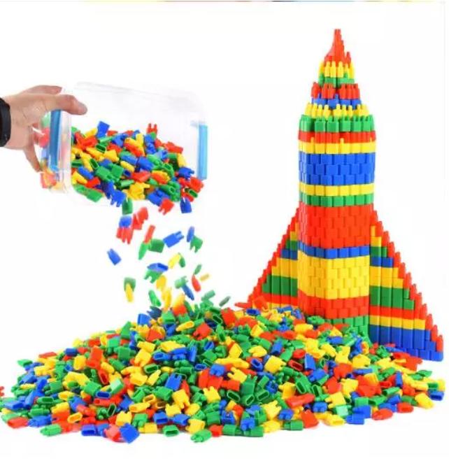 100 st Monteringsleksaker Utveckling Block Kula Byggsten Leksak Pedagogisk Inlärning ZXH