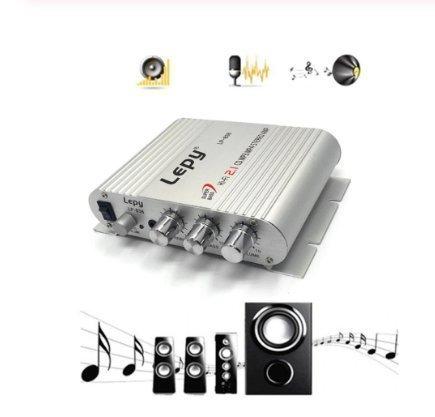 LP-838 Portable Power Amplifier Hi-Fi 2.1 Car Auto Motor Bass Ljudförstärkare