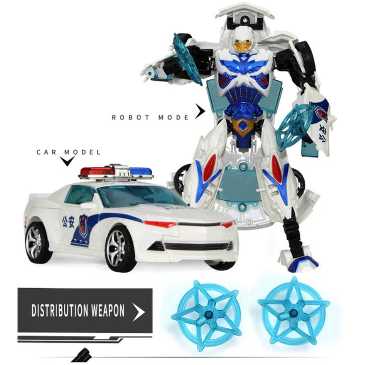Transformers Figurer Optimus Prime Bubble Tank Police Robot