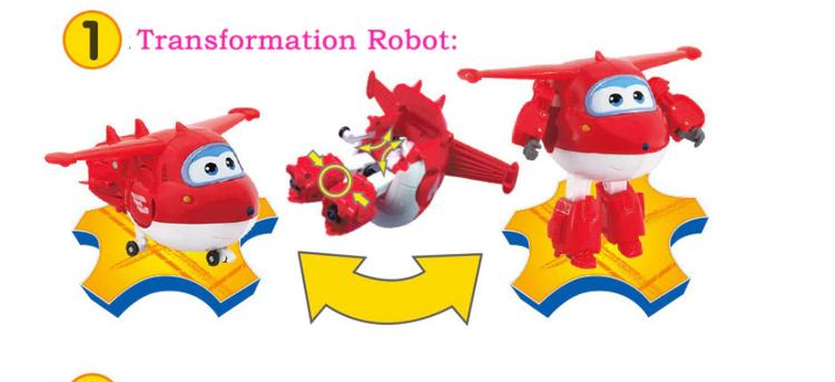 ABS Mästerflygarna Leksak Figur Flygplan Actionfigurer Robot Transformation Anime - Jet
