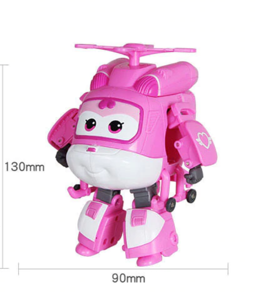 ABS Mästerflygarna Leksak Figur Flygplan Actionfigurer Robot Transformation Anime - Dizzy