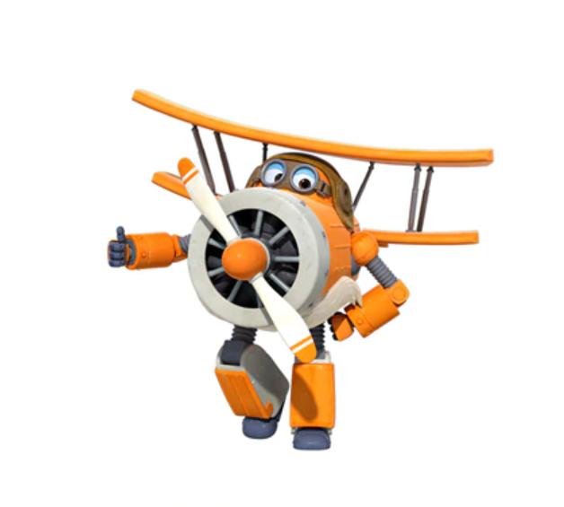 ABS Mästerflygarna Leksak Figur Flygplan Actionfigurer Robot Transformation Anime - Albert