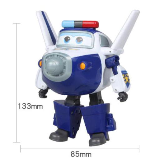 ABS Mästerflygarna Leksak Figur Flygplan Actionfigurer Robot Transformation Anime - Paul
