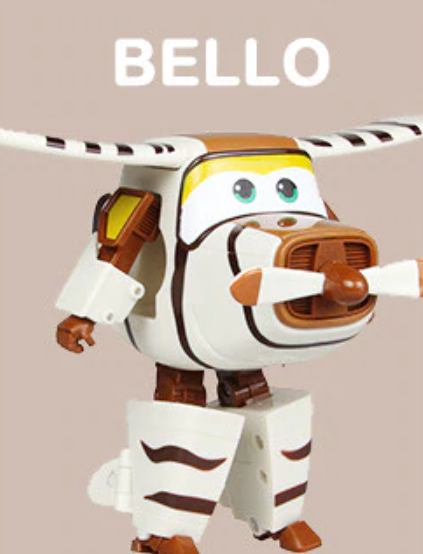 ABS Mästerflygarna Leksak Figur Flygplan Actionfigurer Robot Transformation Anime - Bello